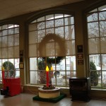 Holiday Windows with Roller Shades